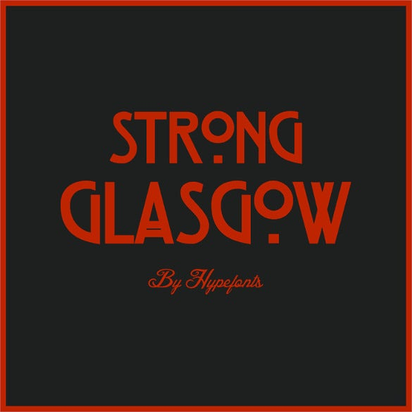 free art deco strong glasgow font