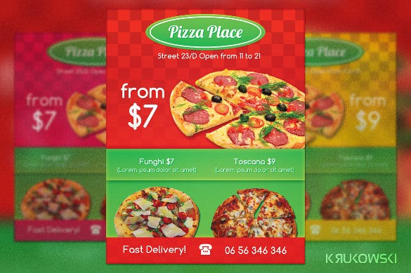 best pizza flyer template with delivery details