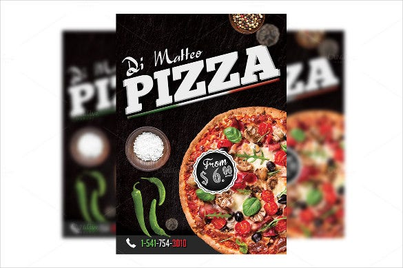 customizable italian pizza flyer template