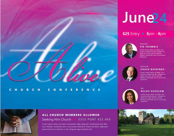 Church Flyers 26 Free PSD AI Vector EPS Format Download – Conference Flyer Template