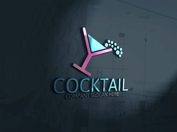 2016 party cocktail logo template