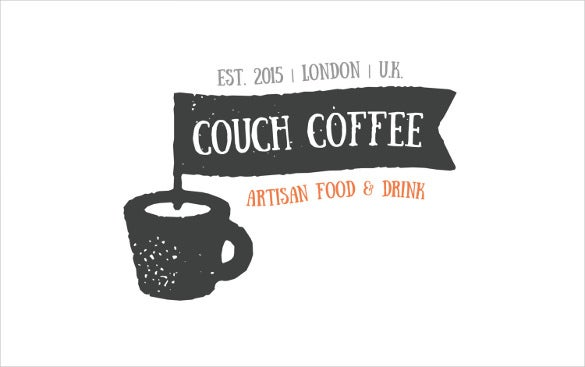 artisian couch coffee logo template