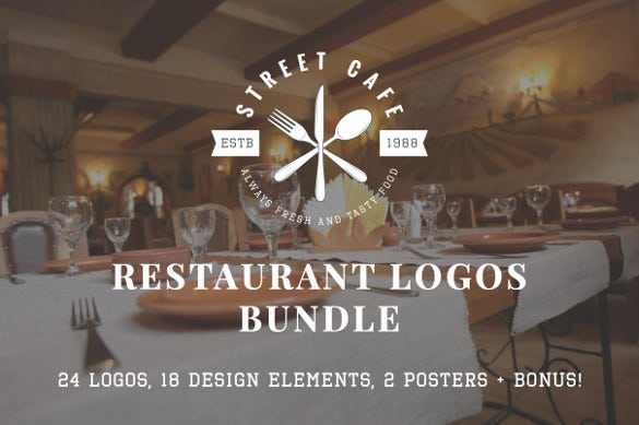 well designed street cafe logo templates
