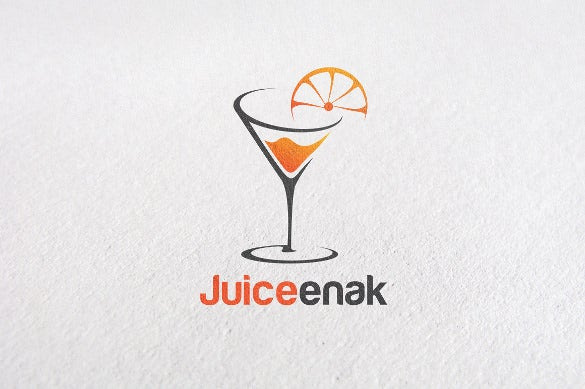 juiceenak healthy drink logo template
