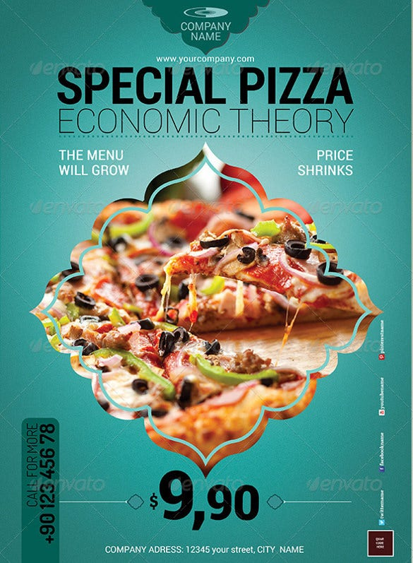 special pizza flyer template