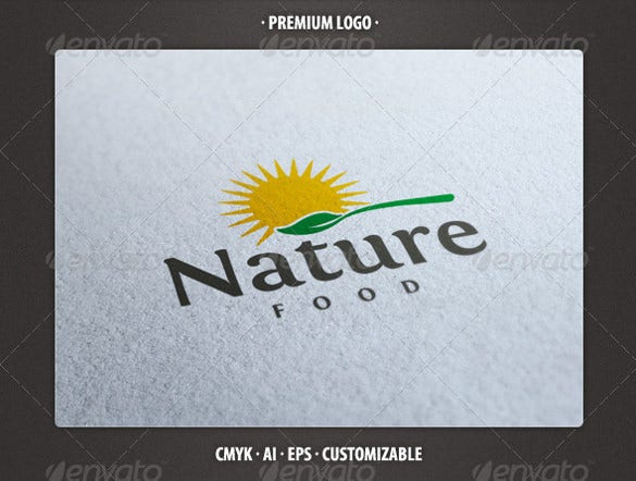 fully edited nature food logo template