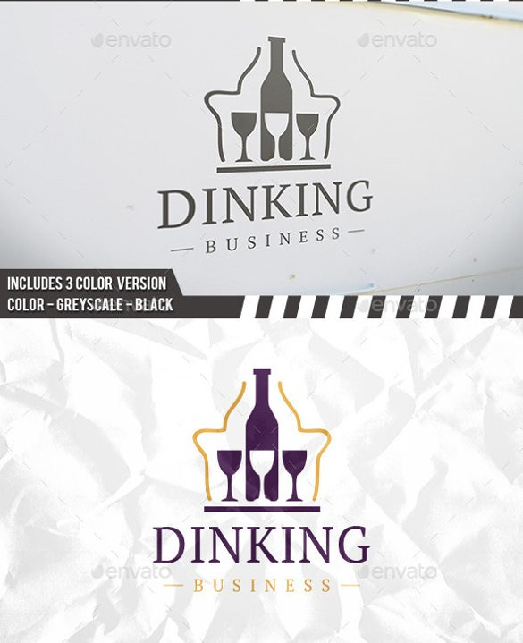 professional look drinking logo template