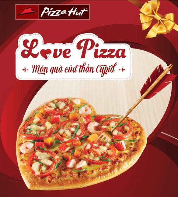 pizza hut flyer template with love pizza