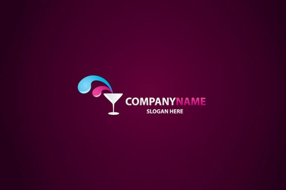 adjustable brand name drink logo template
