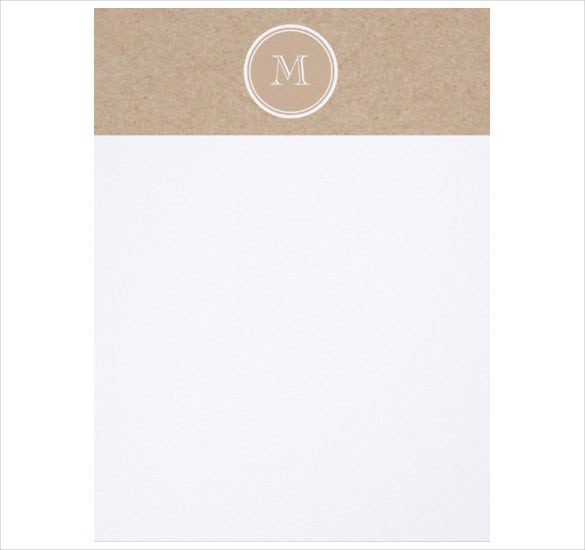Kraft Paper Background Monogram Personal Letterhead  Free Personal Letterhead Templates Word