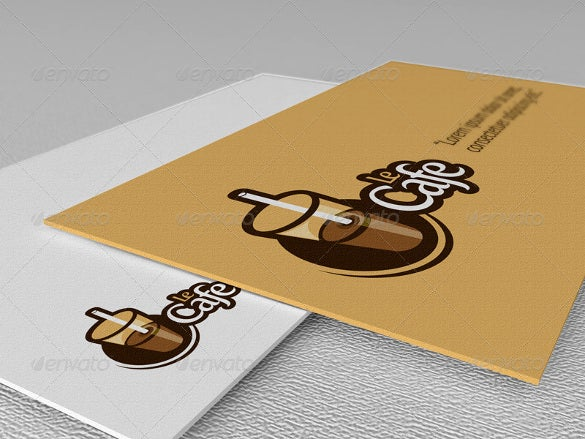 le cafe logo template