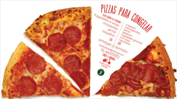 pizza flyer template with easily editable text