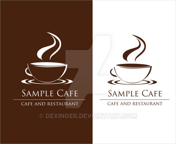 sample cafe and restaurant logo template