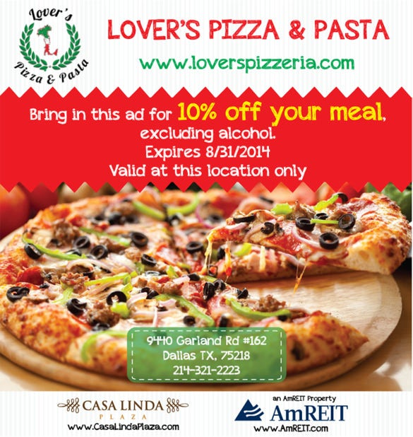 lovers pizza flyer template