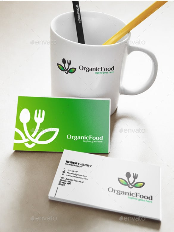 simple organic logo template