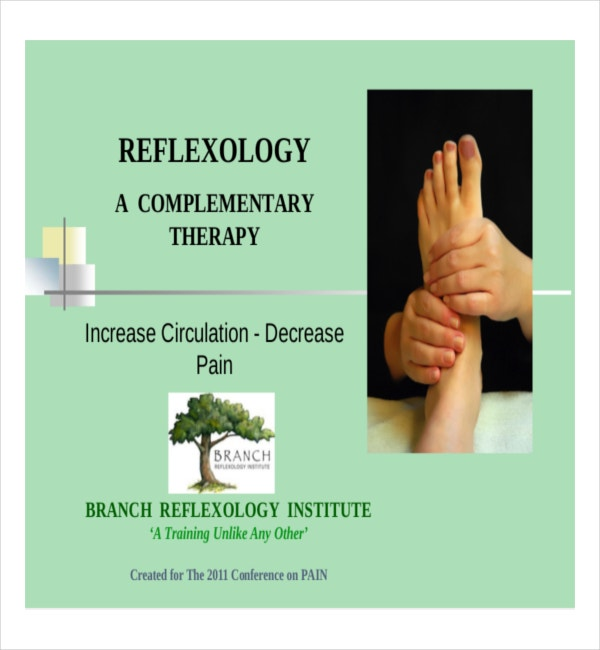Example PDF Template for Reflexology Chart Free Download
