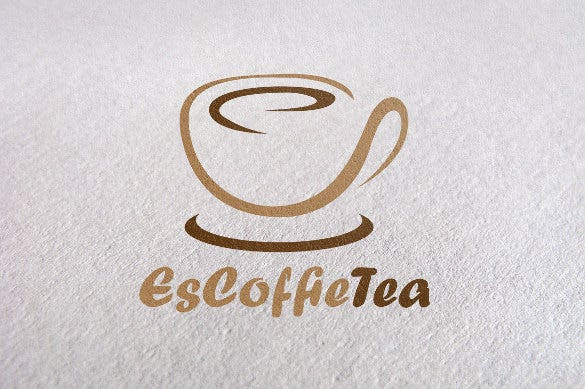escoffee and tea logo template