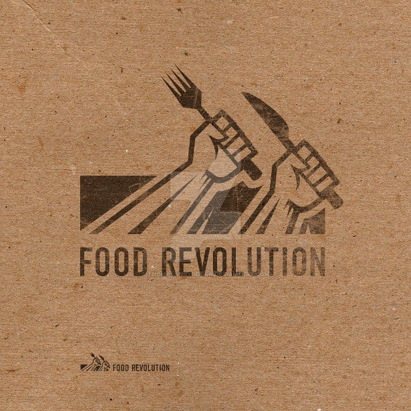 2016 food revolution logo template