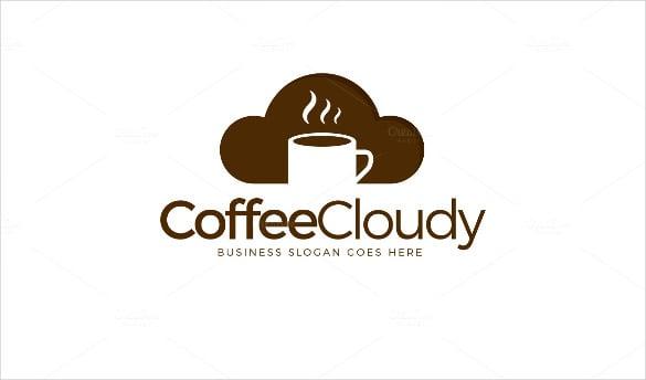 modern coffeecloudy drink logo template