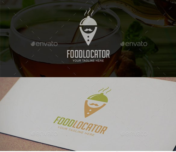 modern foodlocator logo template