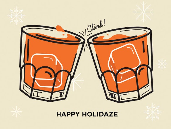 fun holidayz@bar drink logo template
