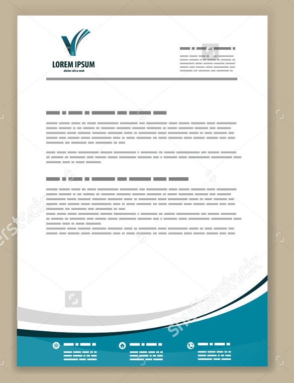Letterhead Sample Professional Dark Gray Red Letterhead – Business Letter Heading Template