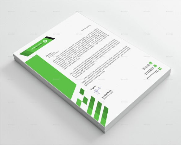 Simple Corporate Letterhead Template