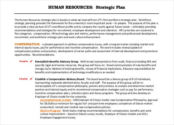 Hr proposal template sample proposal management best for Human resources strategic planning template