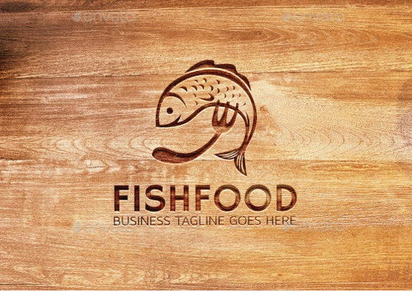 updated fish food logo template