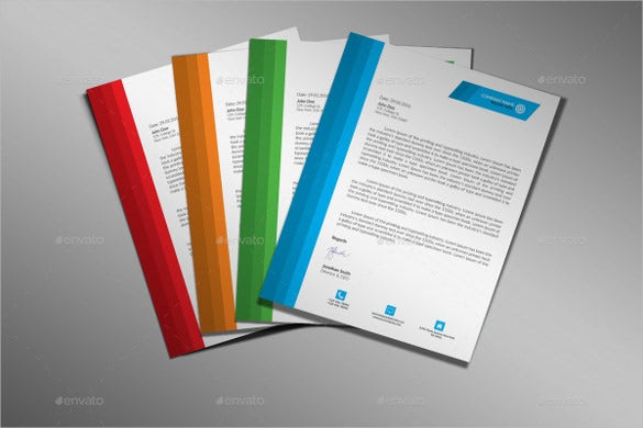 corporate letterhead in four colours download
