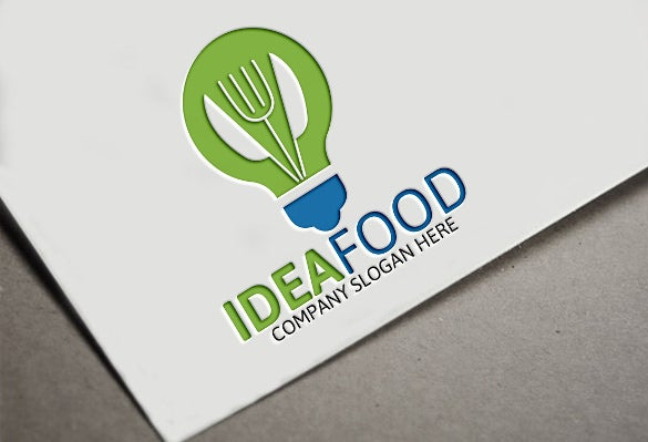 professional food logo template