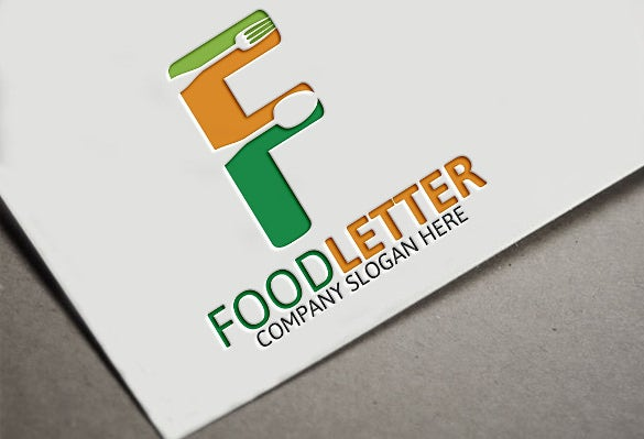 multiple colours food logo template