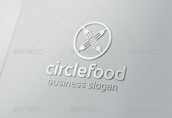 business circle food logo templates