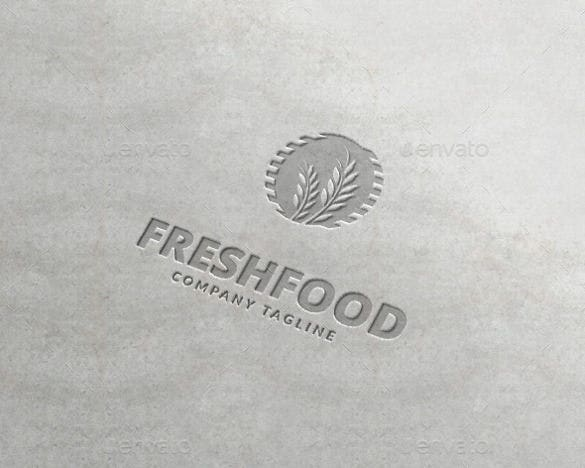 fresh food logo templates