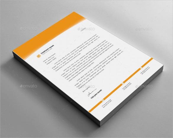 letterhead design on gray colour background