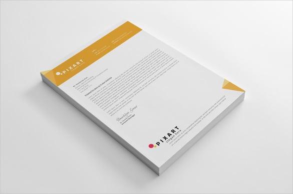letterhead design in orange colour template download