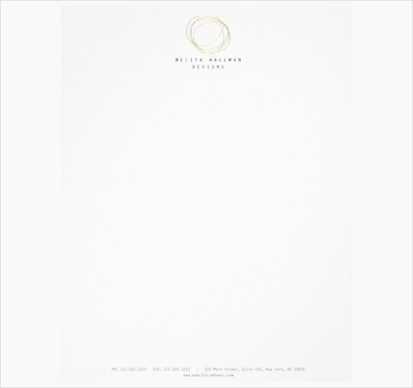 minimal and modern designer scribble logo in gold letterhead download