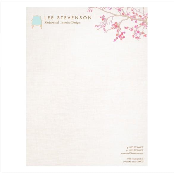 Letterhead design template 20 free psd eps ai for Interior design layout templates free