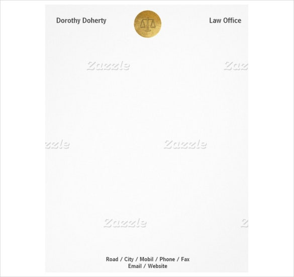 justice law office legal letterhead