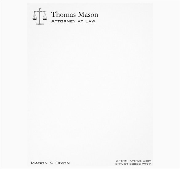 scales of justice law letterhead