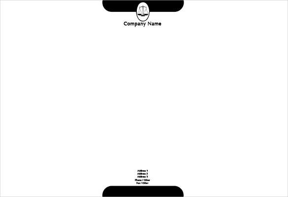 blank legal letterhead template