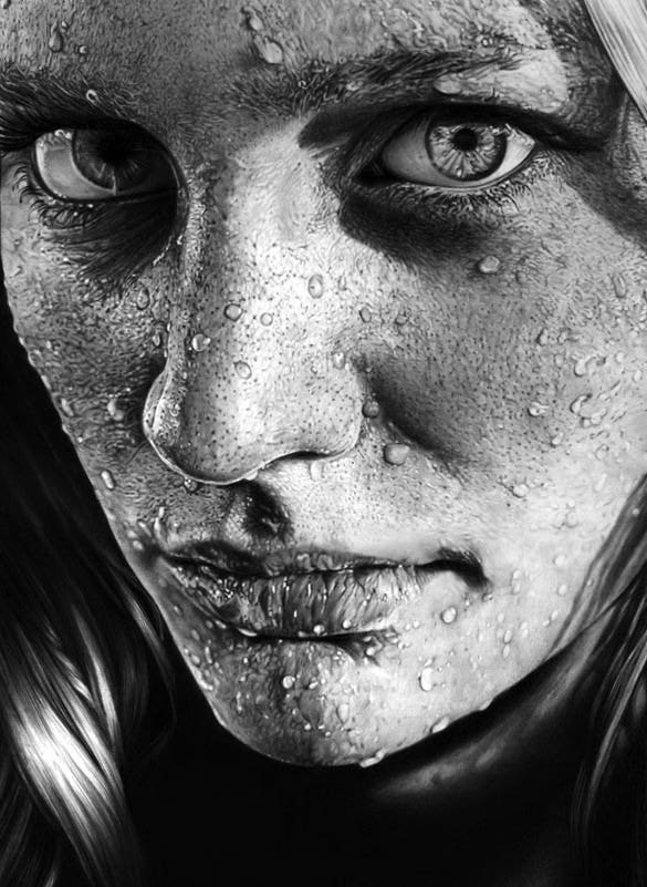 Download blob on face realistic pencil drawings