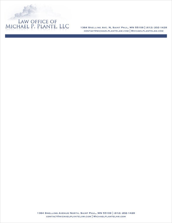 blank law firm letterhead template download