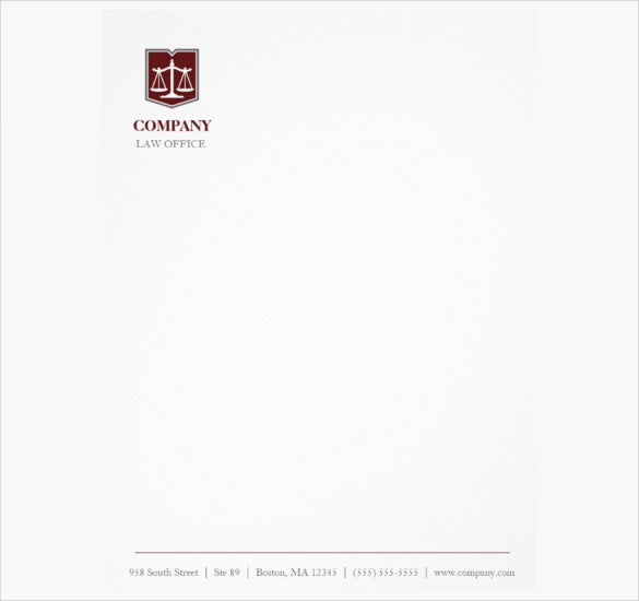 Firm template 28 images attorney letterhead related for Law office letterhead template free