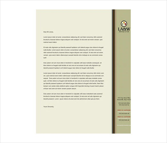 15  law firm letterhead templates