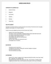 Free Download Doc Format Business Planning Template