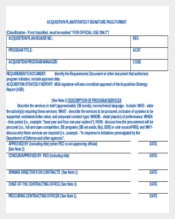 Acquisition Plan & strategy Guidance Doc Format Free Template