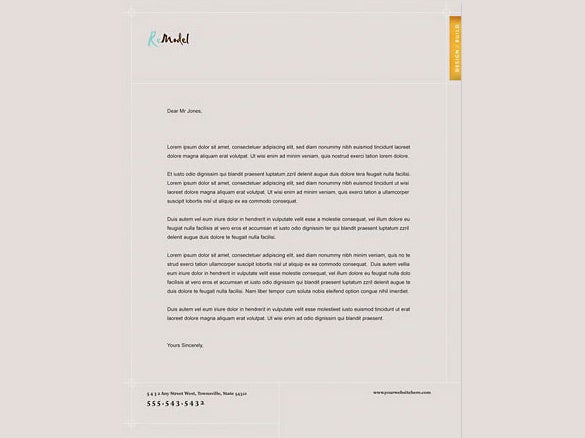 construction company letterhead in gray colour 1