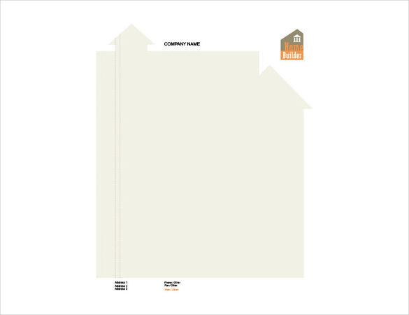 blank construction company letterhead template
