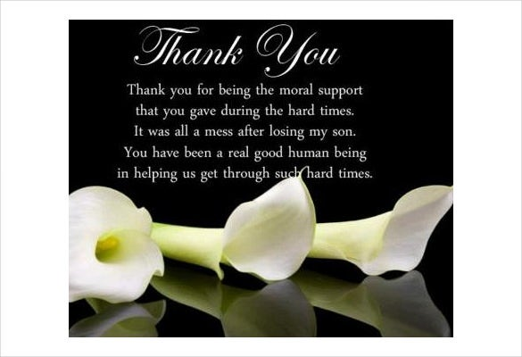 How to write thank you cards for funeral free premium templates funeral thank you card m4hsunfo